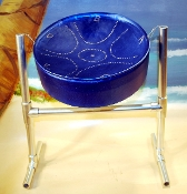 Meditation Steel Drum with Sticks & Stand Blue